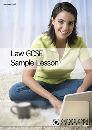 Law GCSE sample lesson cover image