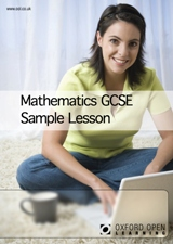 Maths GCSE sample lesson cover image