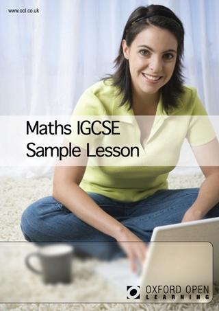 Maths IGCSE sample lesson cover image